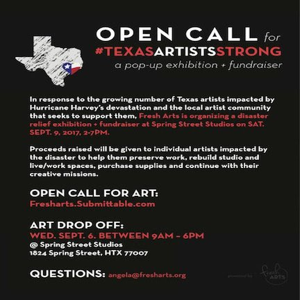Open Call Disaster Relief Exhibition + Emergency Resource for - Disaster Relief Flyer
