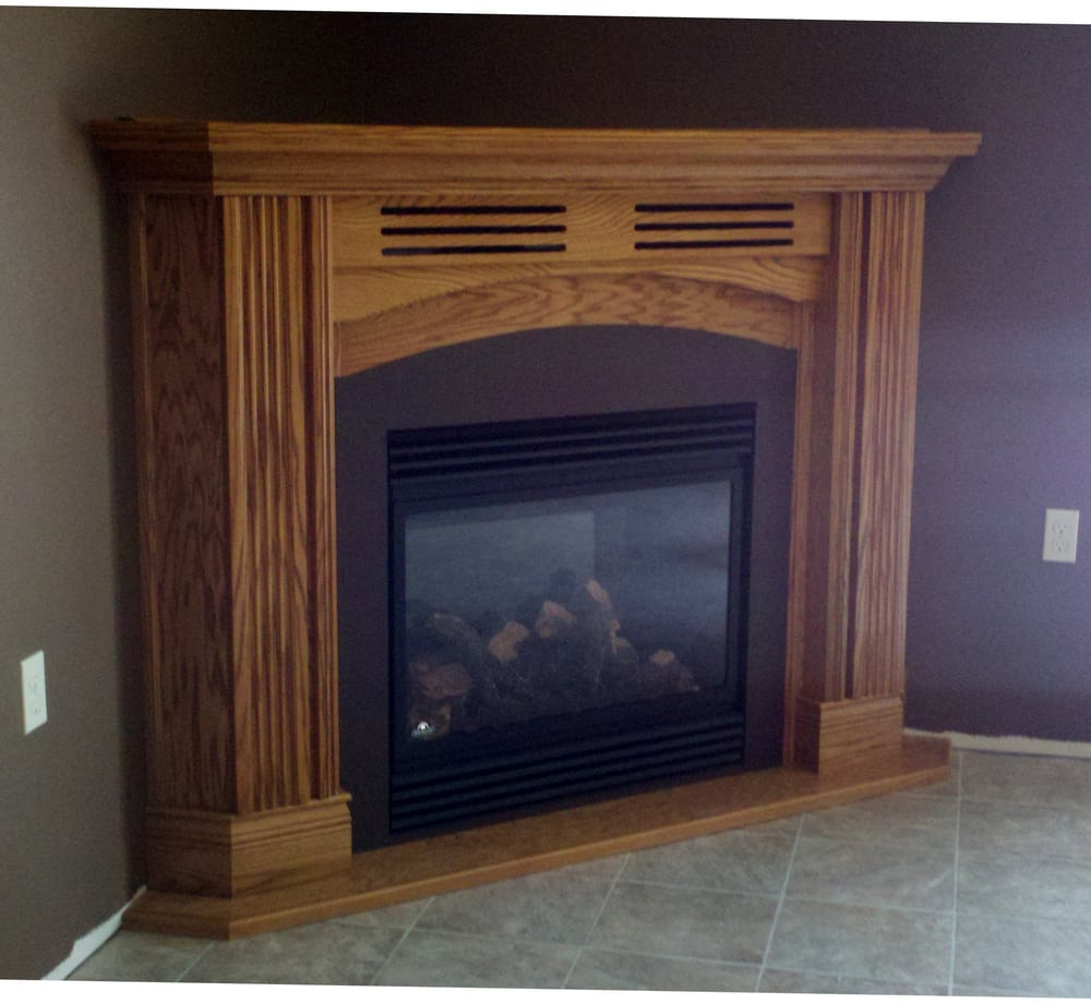 Corner Mantel with Gas Fireplace