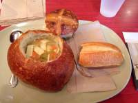 Chicken noodle soup bread bowl - Yelp