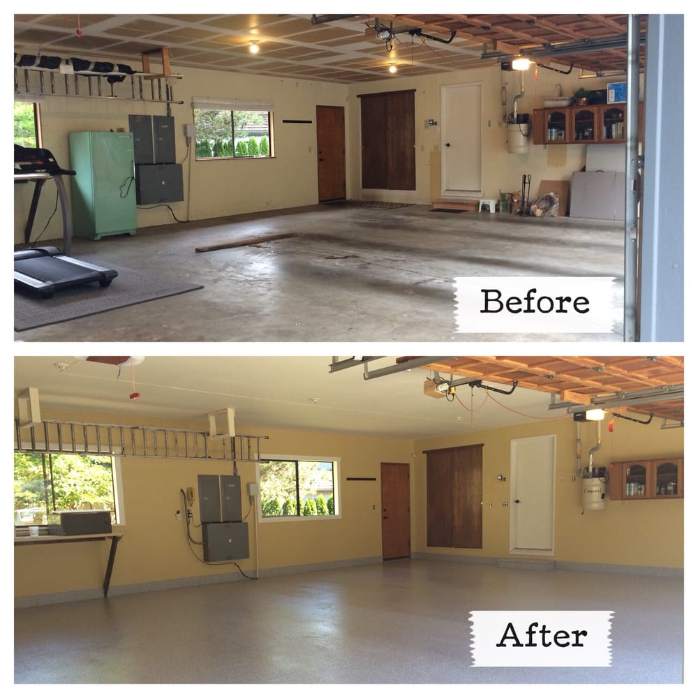 Garage Innovations Oklahoma City New Garage Floor Coating Wall Ceiling Painted New Window Trim