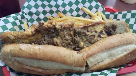 Big Tony\'s West Philly Cheesesteaks - Dallas, TX, United States. #4 Extra meat cheesesteak with wiz