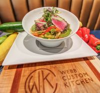 Webb Custom Kitchen-Spiced Rare Tuna and Udon Noodles - Yelp