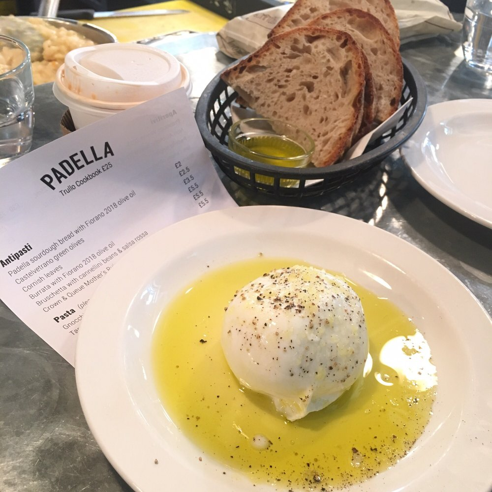 Padella Oil Buratta Cheese With Olive Oil Yelp