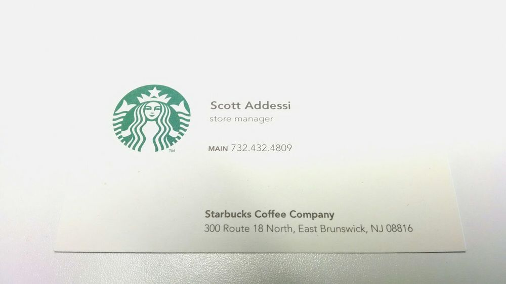 Store Manager business card - Yelp