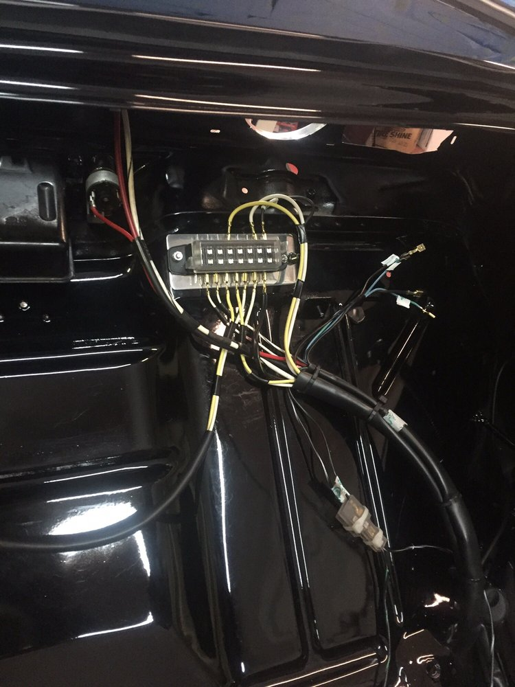 Custom wiring harness By Lcc Automotive on a full custom show 1963