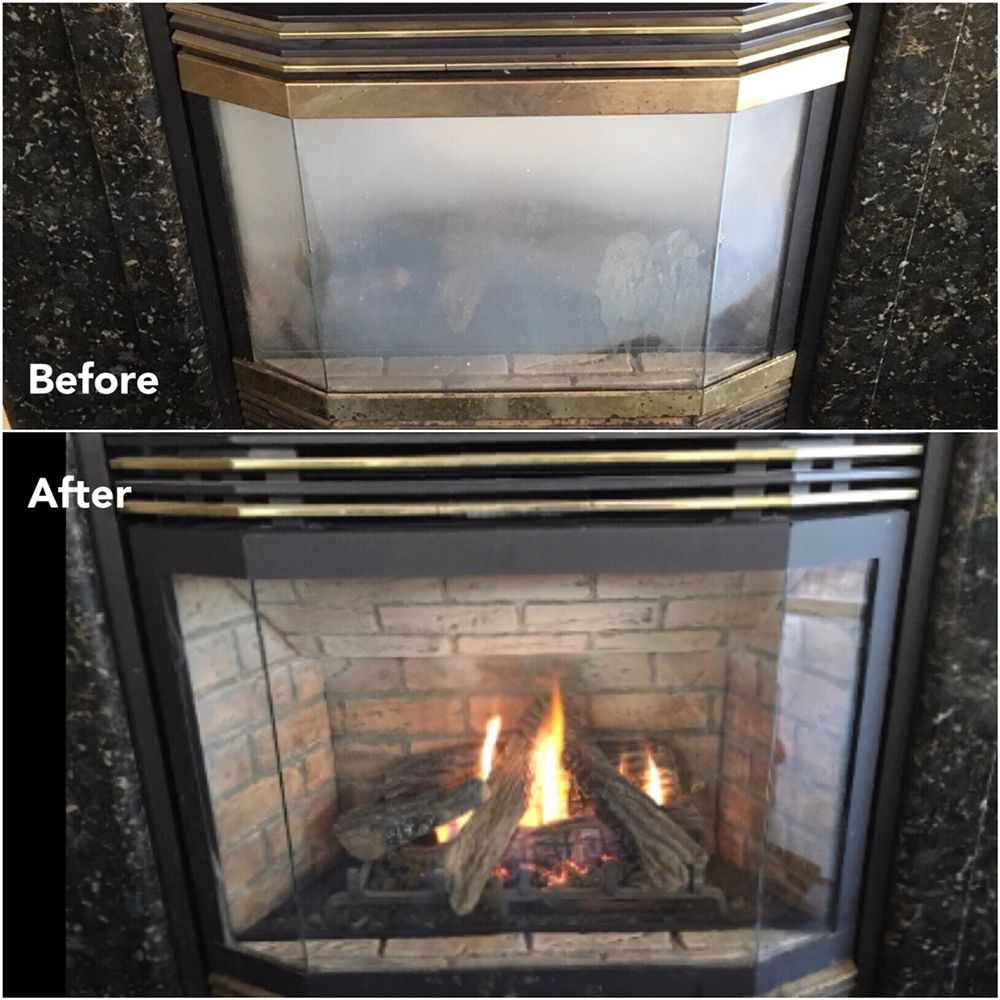 Glass Screen For Gas Fireplace Removed The Byproduct Of Carbon Monoxide From Inside The Glass To
