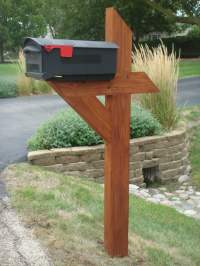 Wooden Mailbox Post - Bing images