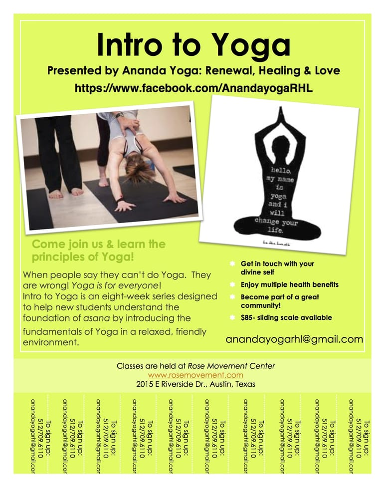 Intro to Yoga Class Flyer! - Yelp - yoga flyer