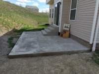 Concrete Patio with Concrete Steps Front Concrete Steps ...