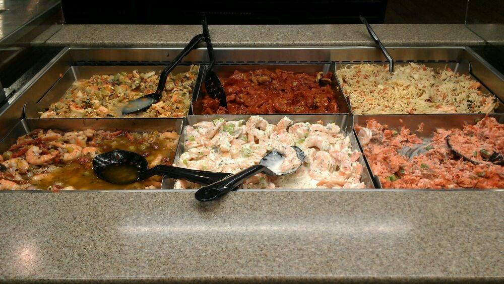 Seafood Bar (salmon salad, shrimp salad, mussel salad, etc) - Yelp