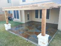 Austin flagstone patio and pergola - Yelp