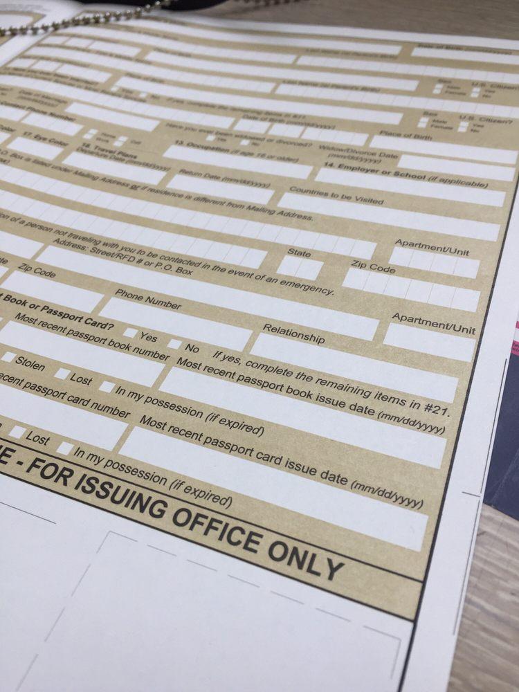 Passport renewal form - Yelp