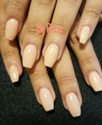 Set of acrylic nails in ballerina shape ( coffin nails ...