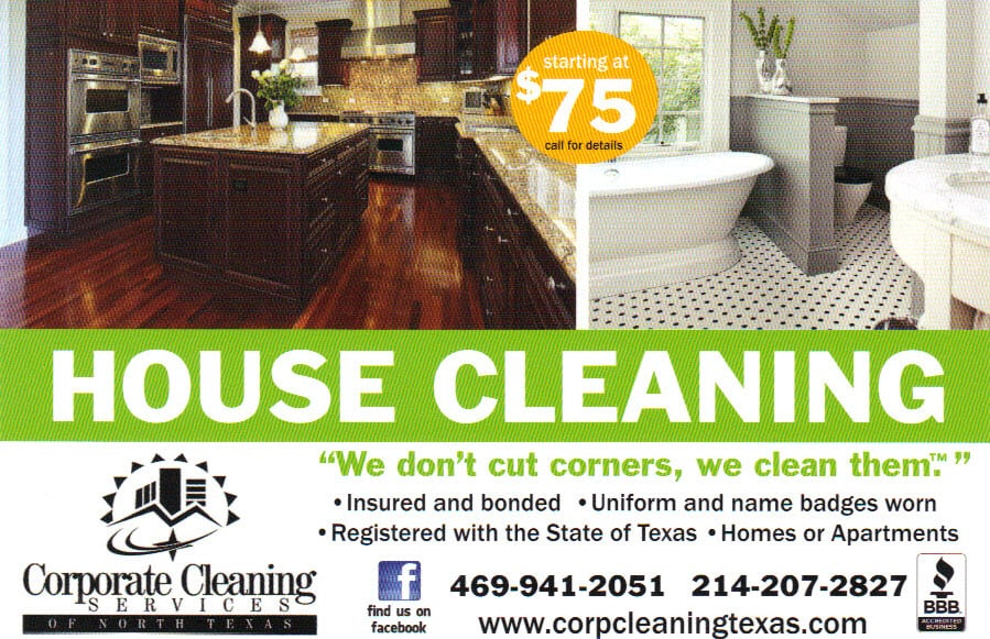 Our House Cleaning Flyer - Yelp