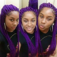 Purple box braids - Yelp