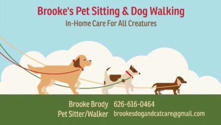 Brooke\u0027s Pet Sitting  Dog Walking business card - Yelp