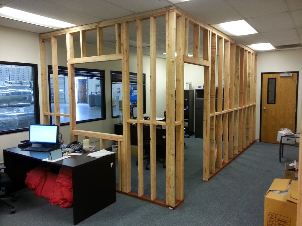 Framed Office in Warehouse - Yelp