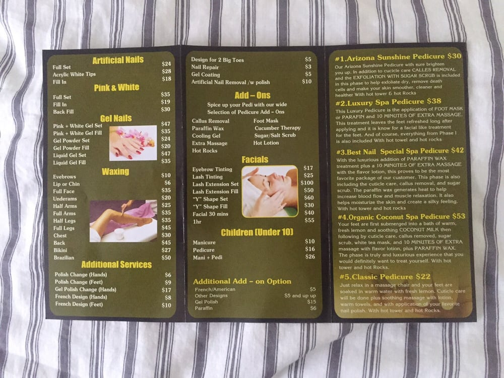 Best Nails  Spa Brochure with prices! (part 2) - Yelp