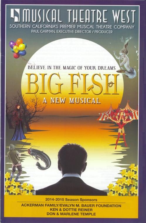 Big Fish musical program cover - Yelp