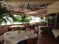 The outdoor patio at Di Mare Vero Beach is quaint and ...
