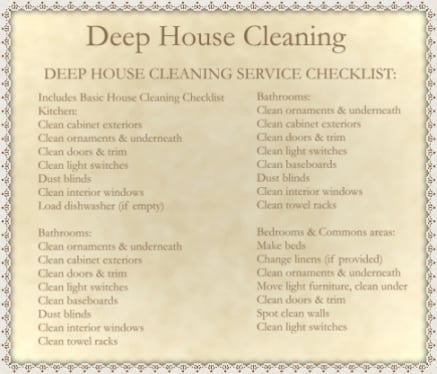 Deep House Cleaning List Amazing Largesize Of Exciting Deep Spring