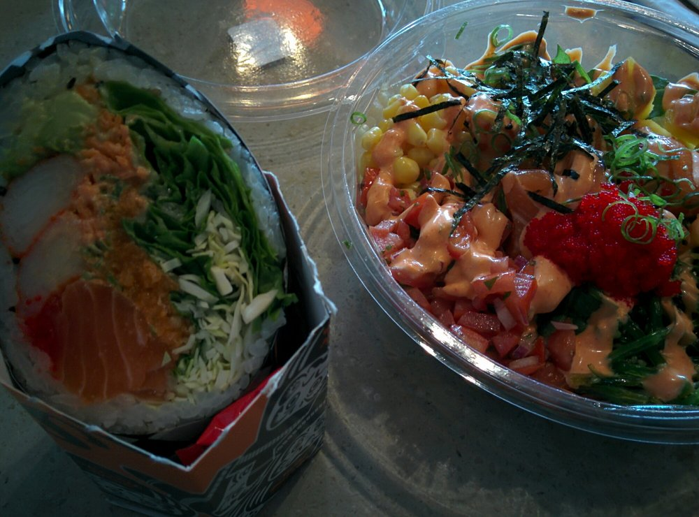 Got The Rising Sun Burrito And Poke Bowl To Share They