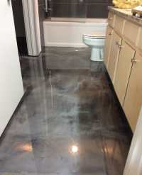 Metallic epoxy bathroom floor coating - Yelp