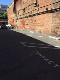 """Parking lot for """"regular"""" size vehicles. Smiles! This is a ..."""