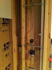 Shower and transfer valve for hand spray and shower head ...