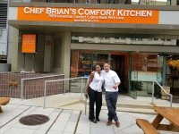 Me and Chef Brian... Thanks for great service and tasty ...