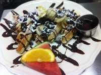 Choco-nana Belgian Waffle (only served Sat & Sun) - Yelp