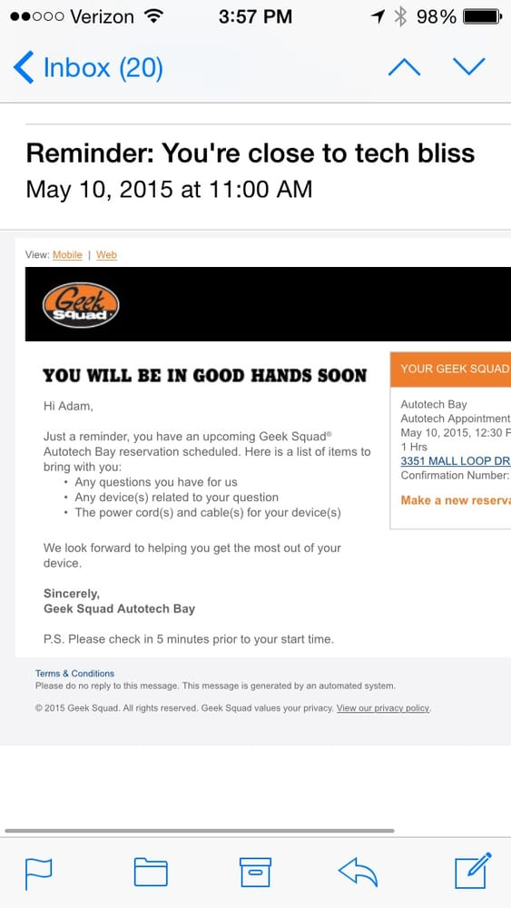 The Best Buy Geek Squad manager told me they tried several times to - geek squad autotech