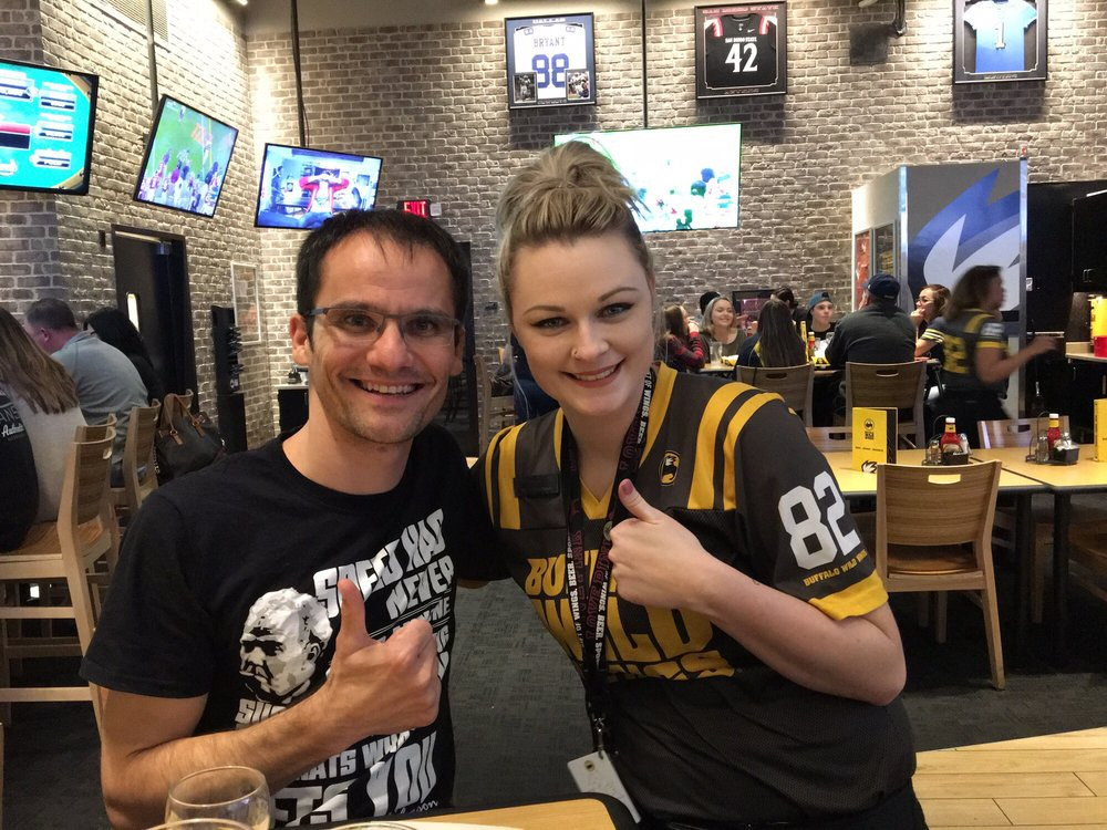 My server Terri and I at Buffalo Wild Wings Simi Valley! - Yelp