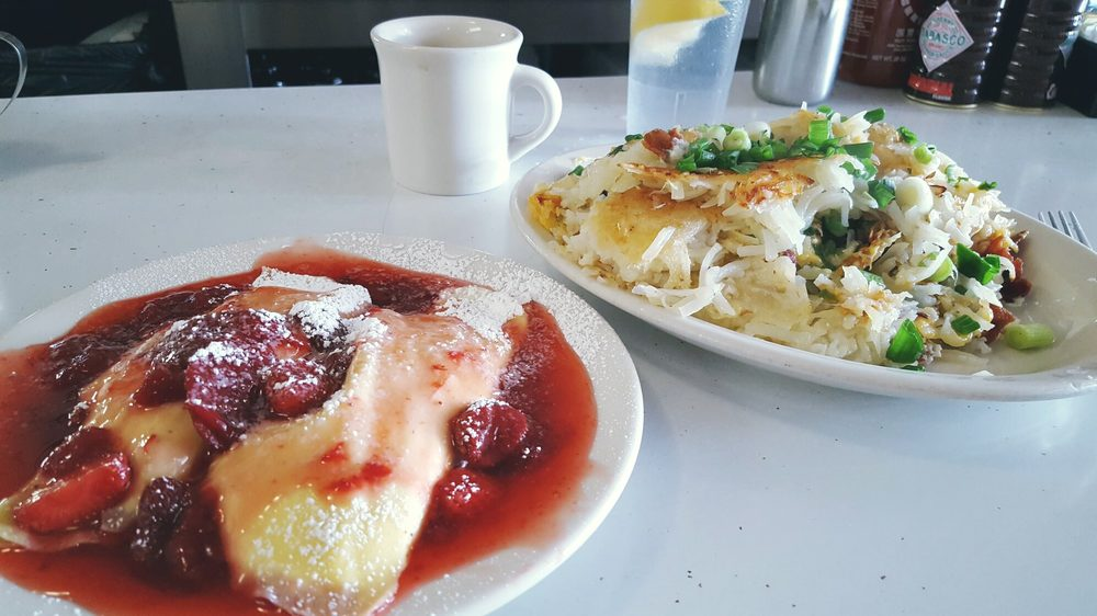 Strawberry Blintzes And Fully Loaded Hashbrowns I