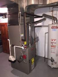 Furnace, A/C coil with humidifier installation in ...