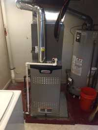 Lennox high-efficiency gas furnace with Central air ...