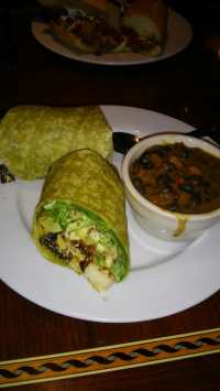 Coconut curry wrap with black beans and rice. Fabulous!