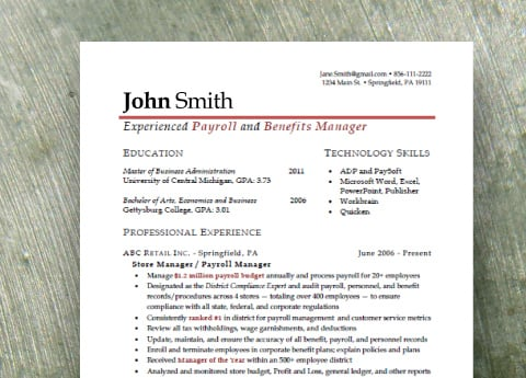 The Essentials Package includes a compelling and creative resume and