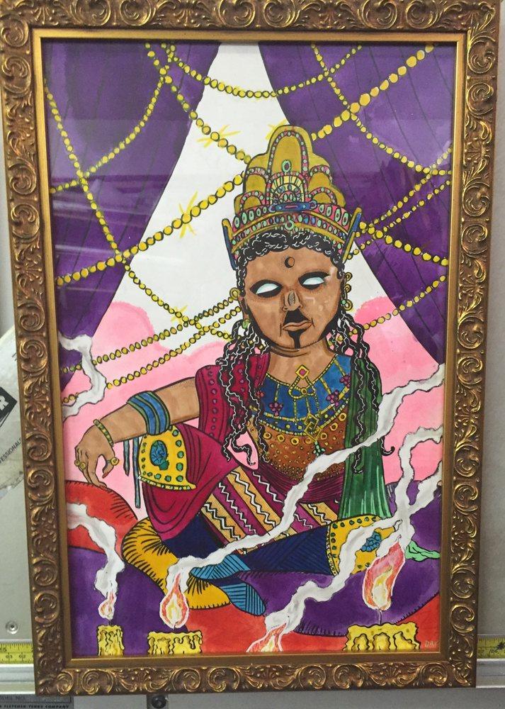 Illustration of Guanyin by Dave Proch, exquisite frame by Three - proch