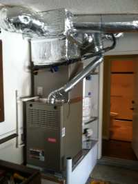 Up-flow furnace and coil installed in garage | Yelp