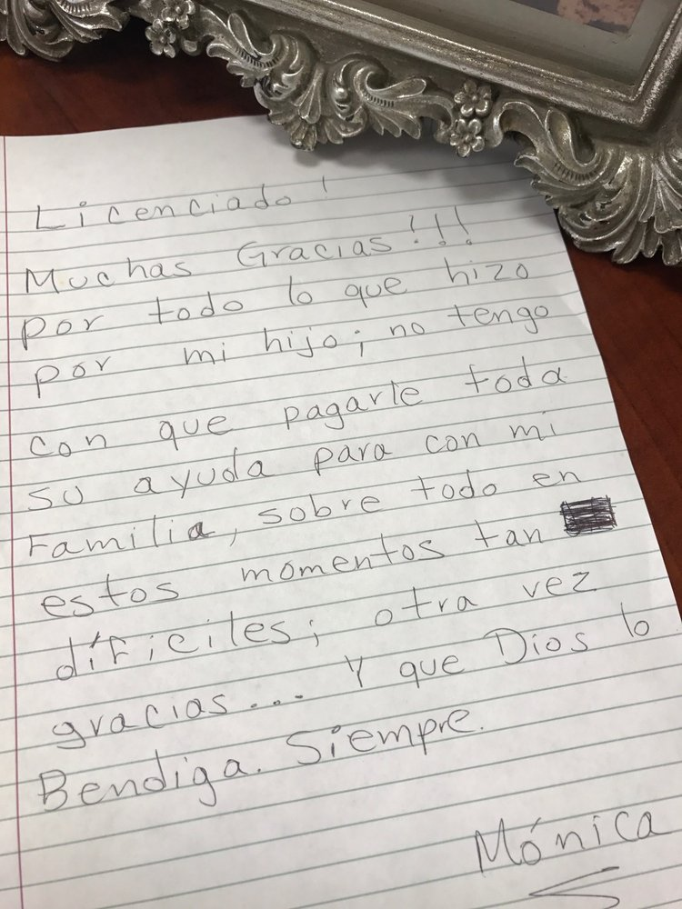 This is one of our clients\u0027 Thank-You letter It is us who humbly