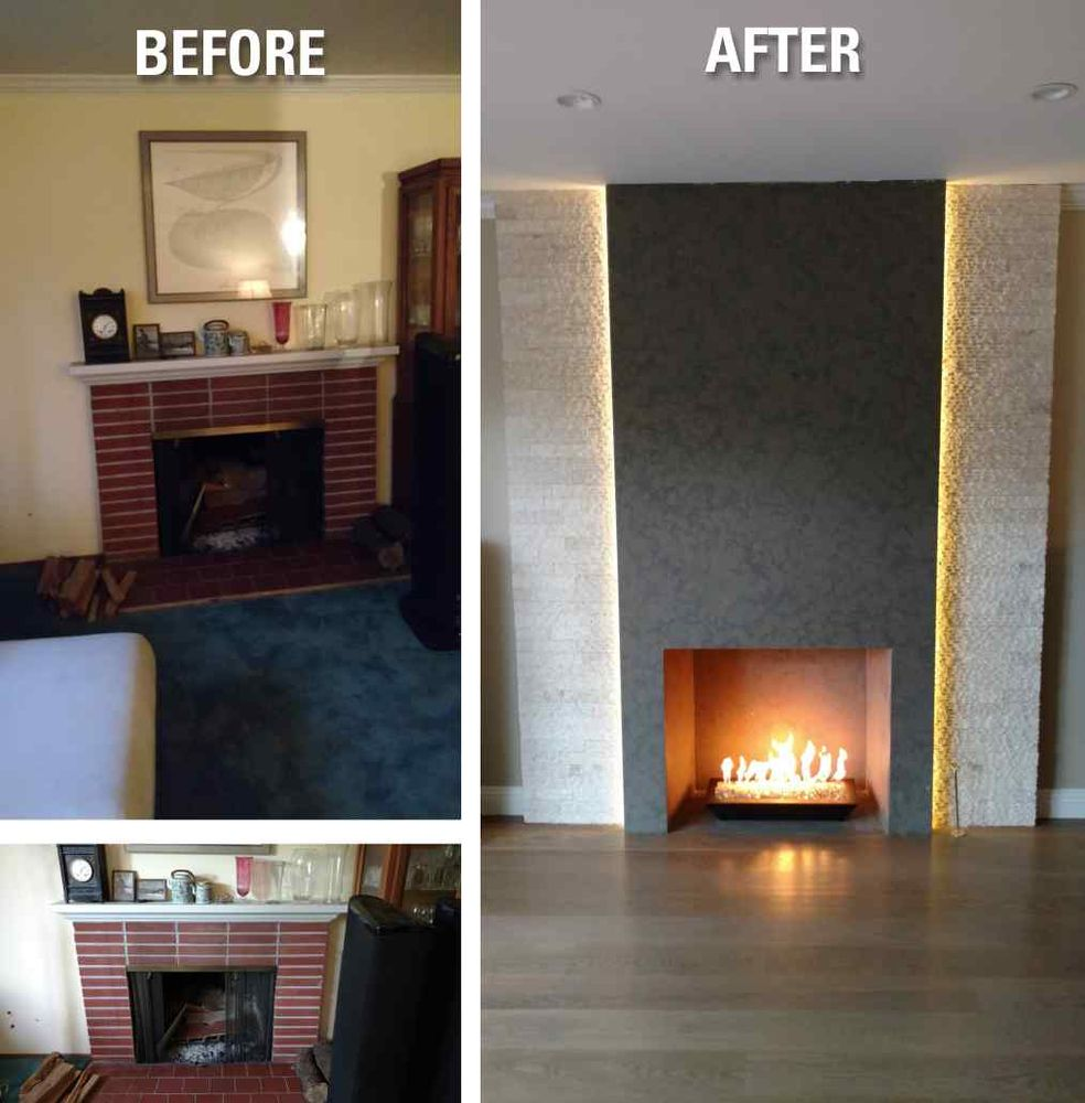 Convert Fireplace To Gas Burning Converted Wood Burning Fireplace To Gas Fired Tray Burner In A