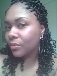Individual braids with curly ends.   Yelp