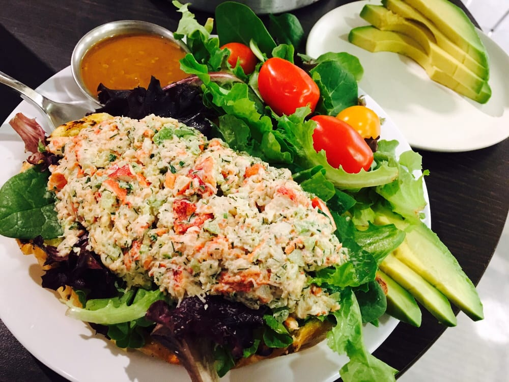 Lobster roll, side salad  avocado for $11 WOW! Super delicious - lobster customer service