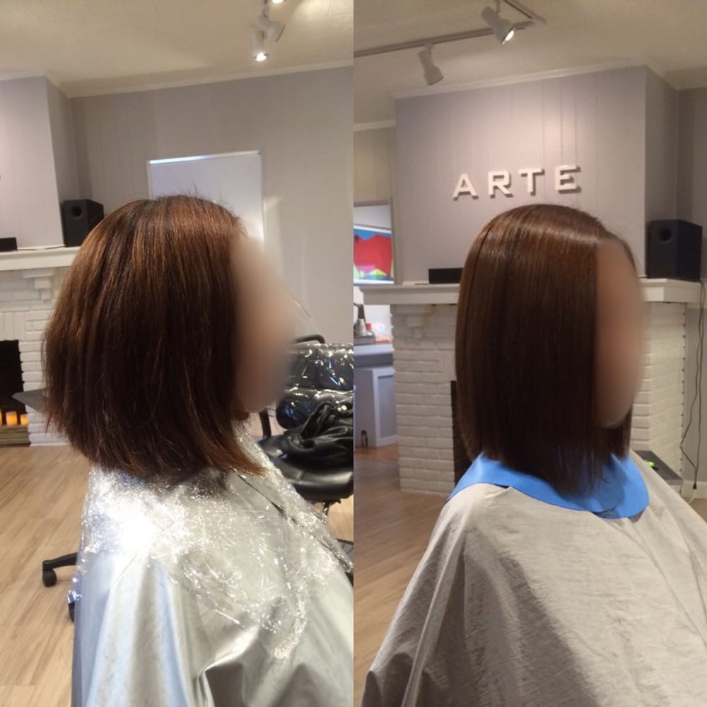 Arte Salon Pennsylvania Before After Korean Magic Straightening Perm That Lasts Until