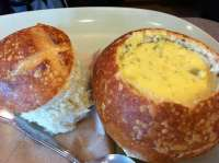 Broccoli Cheddar soup in a bread bowl - Yelp