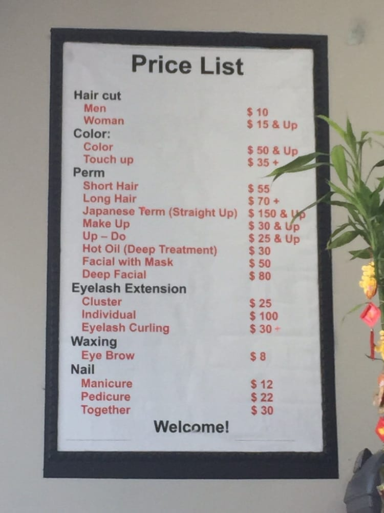 Price List (October 2015) - Yelp