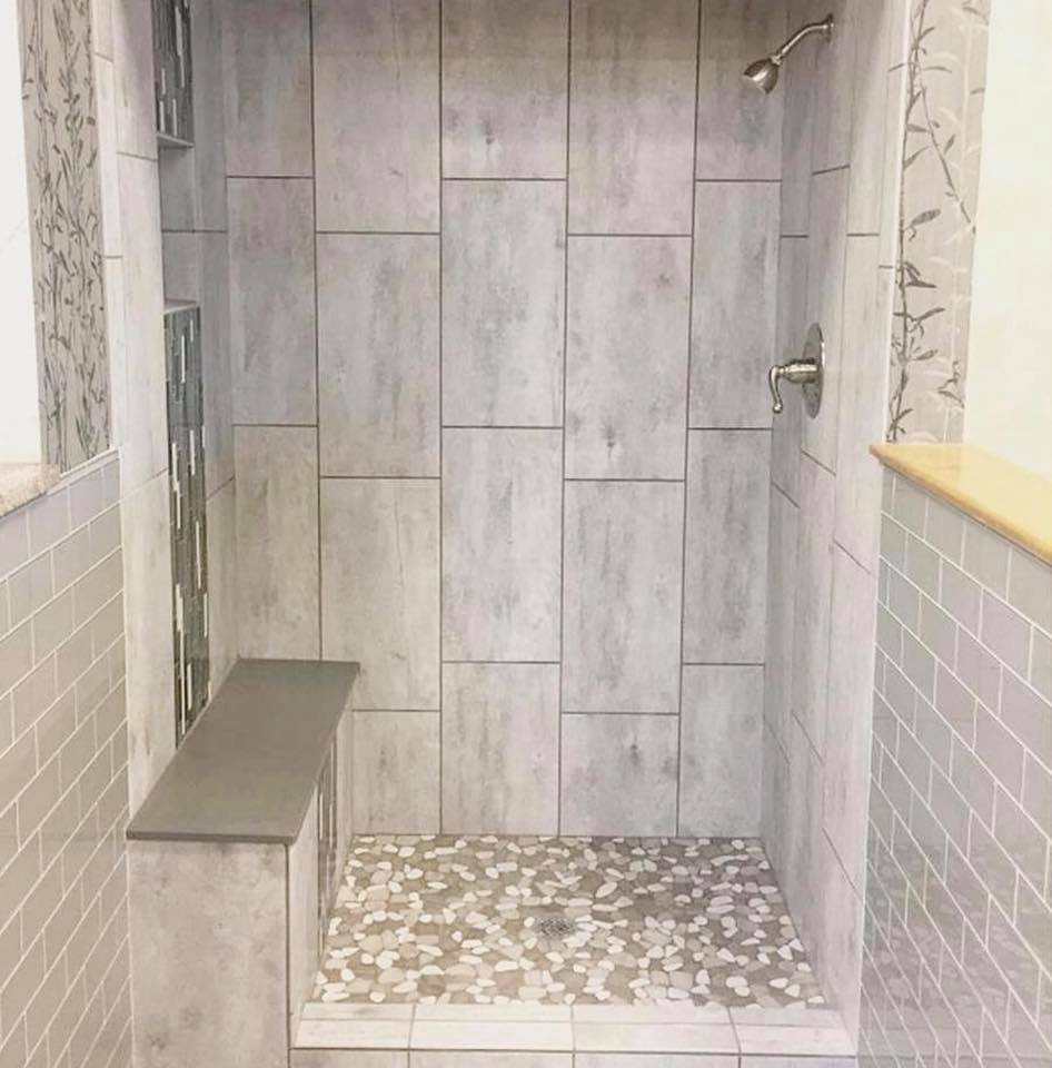 12x24 Tile Shower What A Beautiful Tile Shower Installation Tile Features Emser
