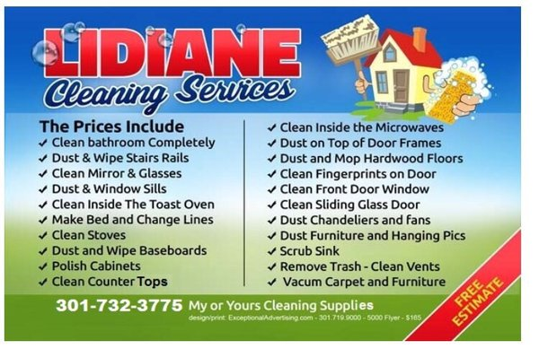 Lidiane Cleaning Services - Home Cleaning - Laurel, MD - Phone