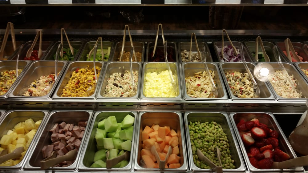Salad bar selections - Yelp